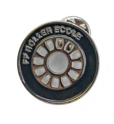 Pin's Noir - Roue Roller Ecole (Lot de 10)