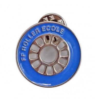 Pin's Bleu - Roue Roller Ecole (Lot de 10)