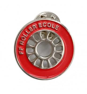 Pin's Rouge - Roue Roller Ecole (Lot de 10)