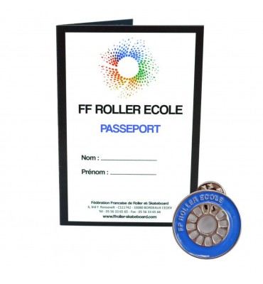 Pack - Roue Roller Ecole Bleu